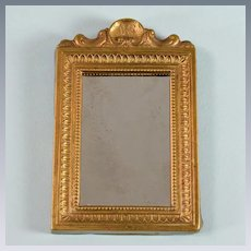 "Antique Dollhouse Miniature Gilt Mirror by JHS 1"" Scale"