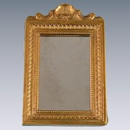 "Antique Dollhouse Miniature Gilt Mirror by JHS 1"" Scale"