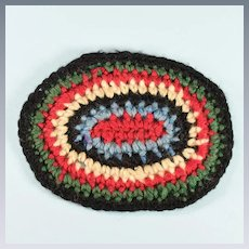 "Oval Crocheted Vintage Dollhouse Rug 1"" Scale"