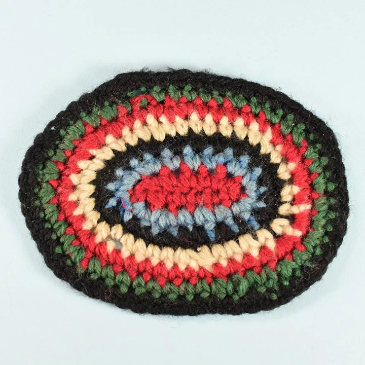 Oval Crocheted Vintage Dollhouse Rug 1