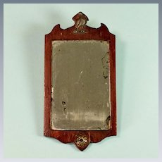 """Vintage Dollhouse Chippendale-Style Mirror Frame 1"""" Scale"""