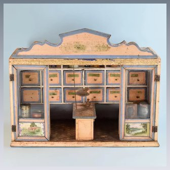 """Christian Hacker Grocery Store Room Box Late 1800s 1"""" Scale"""