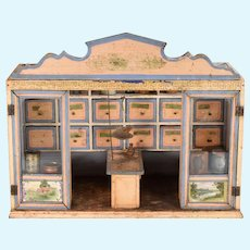 """Christian Hacker Antique Grocery Store Room Box Late 1800s 1"""" Scale"""