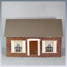 """Hall's Lifetime Toys Dollhouse 5 Rooms Mid 1960s 1"""" Scale"""