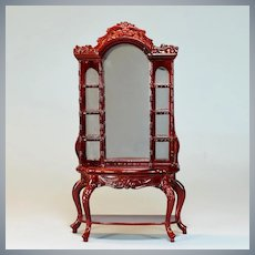 """Vintage Dollhouse Open Display Cabinet by Bespaq 1"""" Scale"""
