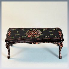 """Vintage Hand-Painted Floral Coffee Table 1"""" Scale"""