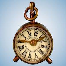"Vintage Dollhouse Metal Alarm Clock / Compass 1"" Scale"
