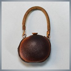 "Antique Miniature Leather Canteen 1920s – 1930s 1"" Scale"
