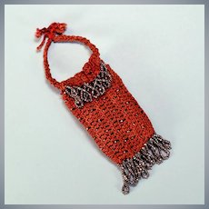 Crocheted and Beaded Purse for a Fashion Doll