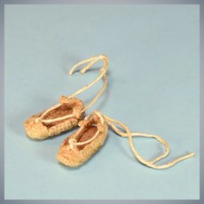 "Vintage Crocheted Dollhouse Doll Shoes Large 1"" Scale"