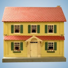 "Deluxe Schoenhut Two Story Colonial Style Dollhouse 11 Rooms 1930s 1"" Scale"
