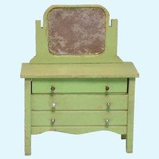 """Schoenhut Dollhouse Mirrored Dresser 1932 3/4"""" Scale"""