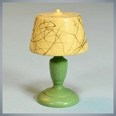 "Strombecker Dollhouse DeLuxe Table Lamp 1936 1"" Scale"