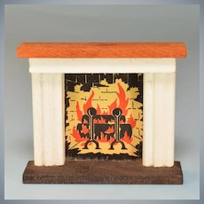 "Kage Dollhouse Fireplace Late 1940s 3/4"" Scale"