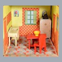 "Strombecker Dollhouse 8 Pc. Kitchen Set 1938 – Mid 1940s 3/4"" Scale"