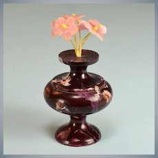 "Spielwaren Plum Wooden Vase by Szalasi 1950s – 1980s Large 1"" Scale"
