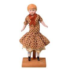 "5-1/2"" Antique Kestner Bisque Dollhouse Girl Doll 1910s Large 1"" Scale"