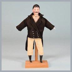 """6"""" Antique Simon & Halbig Bisque Dollhouse Man Doll 1880s - 1900 1"""" Scale"""