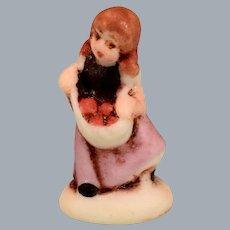 Betty Neiswender Bisque Hummel Style Harvest Girl Figurine 1998