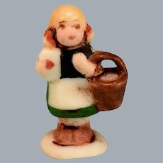 Betty Neiswender Bisque Hummel Style Girl with Basket Figurine