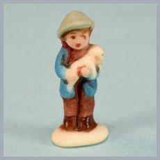 Betty Neiswender Bisque Hummel Style Shepherd Boy Figurine 1987