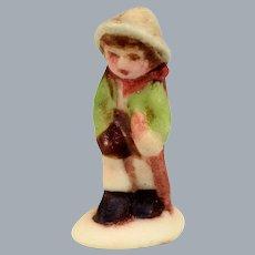 Betty Neiswender Bisque Hummel Style Little Hiker Boy Figurine 1997