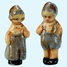 "1/2"" Miniature Artisan Dutch Boy and Girl Figurines"