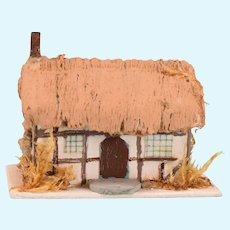 Dollhouse Miniature Artisan Thatched Roof Cottage 144th Scale