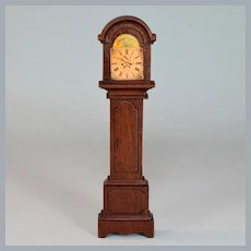 "Tynietoy Grandfather Clock Early 1920s Large 1"" Scale Dollhouse Miniature"