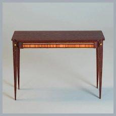 "Lynnfield Dollhouse Miniature Duncan Phyfe Side Table 1950 1"" Scale"