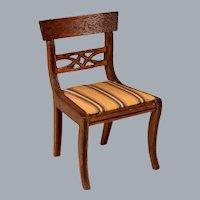 "Lynnfield Dollhouse Miniature Duncan Phyfe Side Chair  1950 1"" Scale"