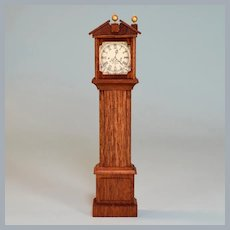 "Lynnfield Dollhouse Miniature Grandfather Clock Mid 1960s 1"" Scale"