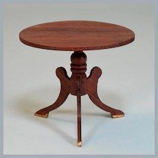 """Lynnfield Dollhouse Miniature Tilt-Top Tea Table Early 1964 1"""" Scale"""