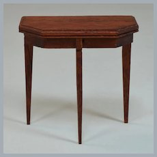 "Lynnfield Dollhouse Miniature Duncan Phyfe Side Table 1950 1"" Scale"