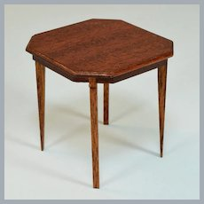 """Lynnfield Dollhouse Miniature Duncan Phyfe Occasional Table 1950 1"""" Scale"""