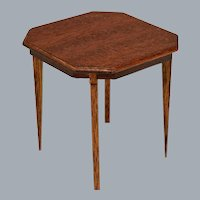 "Lynnfield Dollhouse Miniature Duncan Phyfe Occasional Table 1950 1"" Scale"