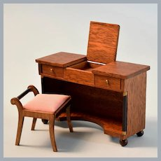"""Lynnfield Style Dollhouse Miniature Empire Dressing Table Early 1960s 1"""" Scale"""