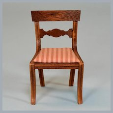 "Dollhouse Miniature Lynnfield Duncan Phyfe Side Chair 1950 1"" Scale"