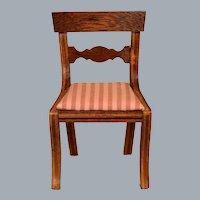 "Dollhouse Miniature Lynnfield Duncan Phyfe Side Chair 1950 1"" Scale"