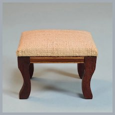 "Lynnfield Columbia Dollhouse Miniature Footstool 1964 1"" Scale"