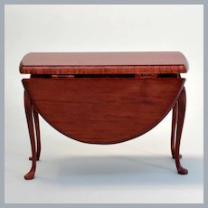 """Vintage Artisan Dollhouse Drop Leaf Table by Andrews Miniatures 1"""" Scale"""