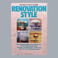Metropolitan Home Renovation Style by Joanna L. Krotz 1st Paperback Edition 1986