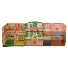 Children's Book The Giant Nine Room Fold-Away Doll House 1951