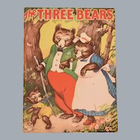 Giant Soft Cover Children's Book The Three Bears by Whitman Publishing 1941