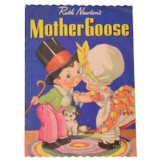 Giant Soft Cover Children's Book Ruth Newton's Mother Goose #2313 1943