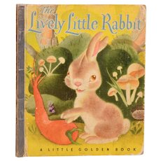 The Lively Little Rabbit by Ariane Little Golden Book 1943 5th Printing