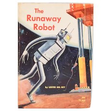 The Runaway Robot by Lester Del Rey 1st Printing Paperback 1966