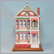 Deluxe Animated Victorian House Music Box Plays Toyland by Paul Philips from Creative Clockwork 1995
