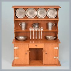 "Vintage Miniature Chestnut Hill Studios Bucks County Welsh Dresser 1960s Large 1"" Scale"