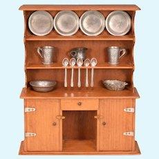 "Vintage Miniature Chestnut Hill Studios Bucks County Welsh Dresser 1960s Large 1"" Scale"